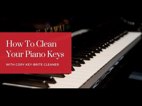 Cleaning Your Piano Keys