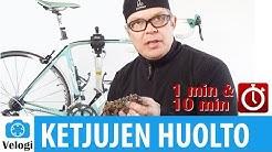 Polkupyörän ketjun huolto - 1 min ja 10 min versio
