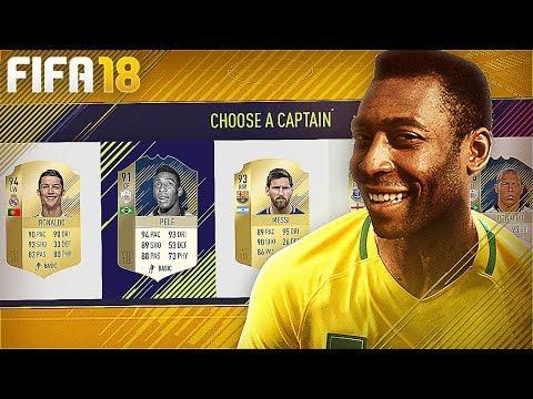 FIFA 18 FUT DRAFT - TIRAMOS O REI PELÉ!