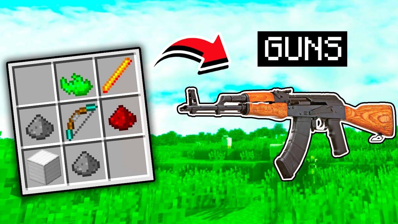 Minecraft, But I Can Craft GUNS...