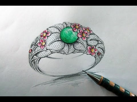 Jewellery designing courses | Pencil sketching jewelry design.