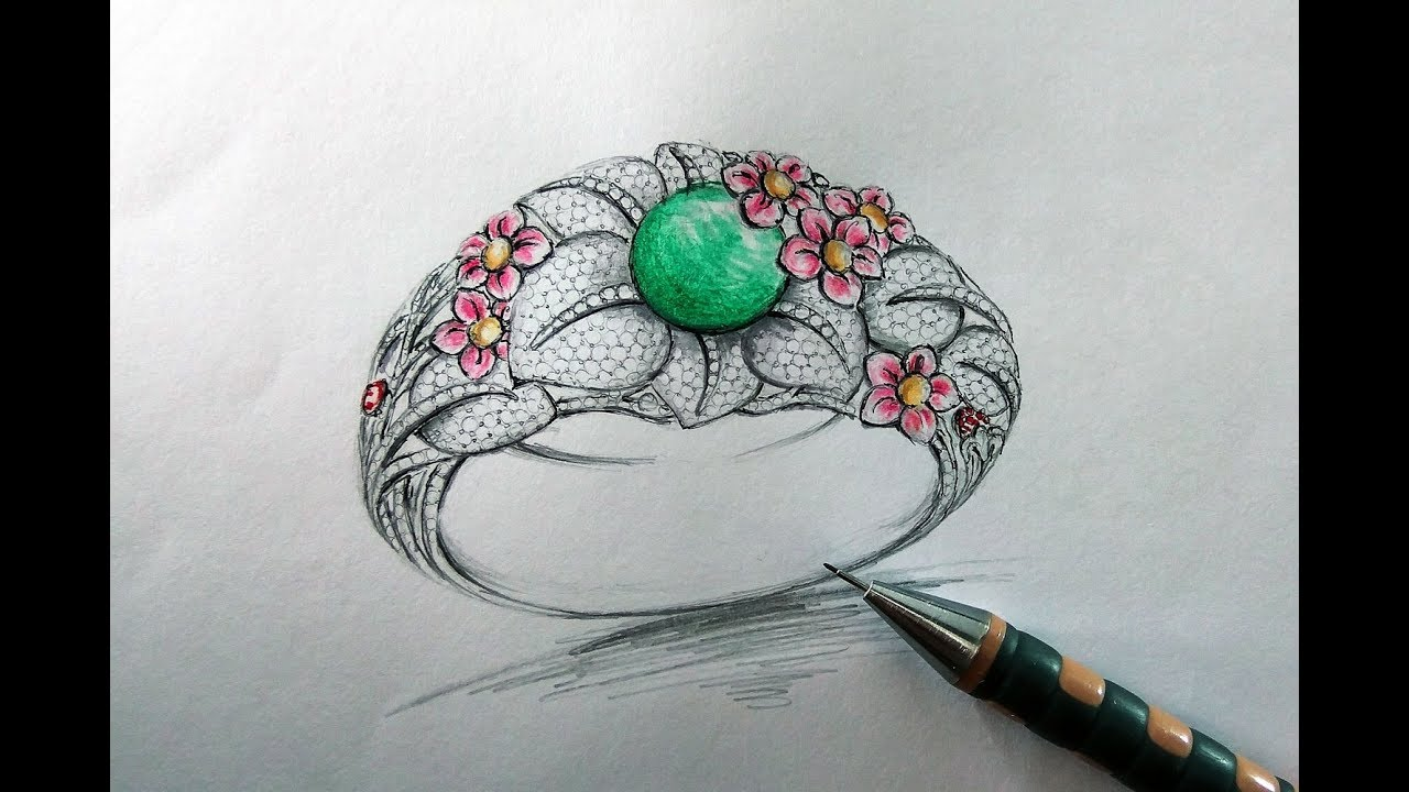 Jewellery designing courses pencil sketching jewelry design