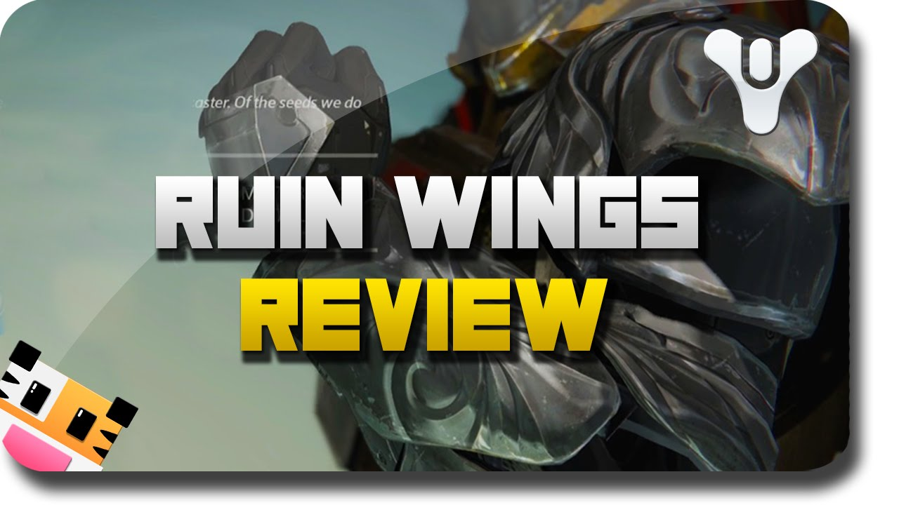 Destiny quot dark below dlc quot quot ruin wings quot exotic armor review destiny