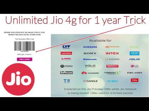 Thumbnail: 1 Year Unlimited Internet on Jio 4g Trick | Free Data Unlimited