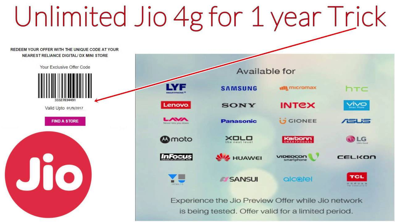 1 Year Unlimited Internet on Jio 4g Trick | Free Data Unlimited ...