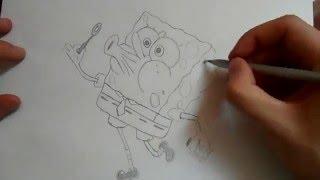 Видео: как нарисовать спанч боба?(обучающее видео по рисованию спанч боба простым карандашом поэтапно для начинающих., 2015-12-27T20:24:57.000Z)