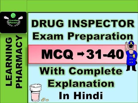 Drug Inspector   Exam Preparation   MCQ 31-40   In Hindi   ड्रग इंस्पेक्टर परीक्षा की तैयारी   हिंदी