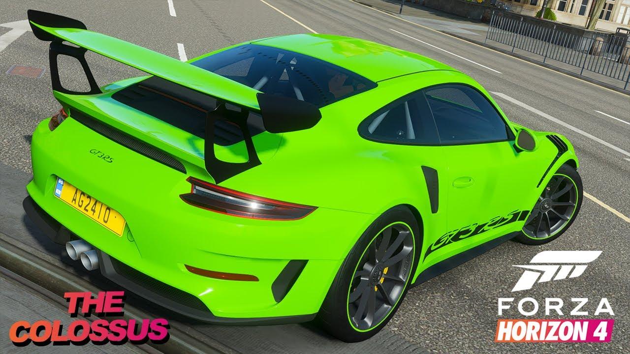 Forza Horizon 4 Porsche GT3 RS Logitech G29 Gameplay 4K ...