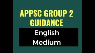 APPSC Group 2 Guidance ENGLISH MEDIUM