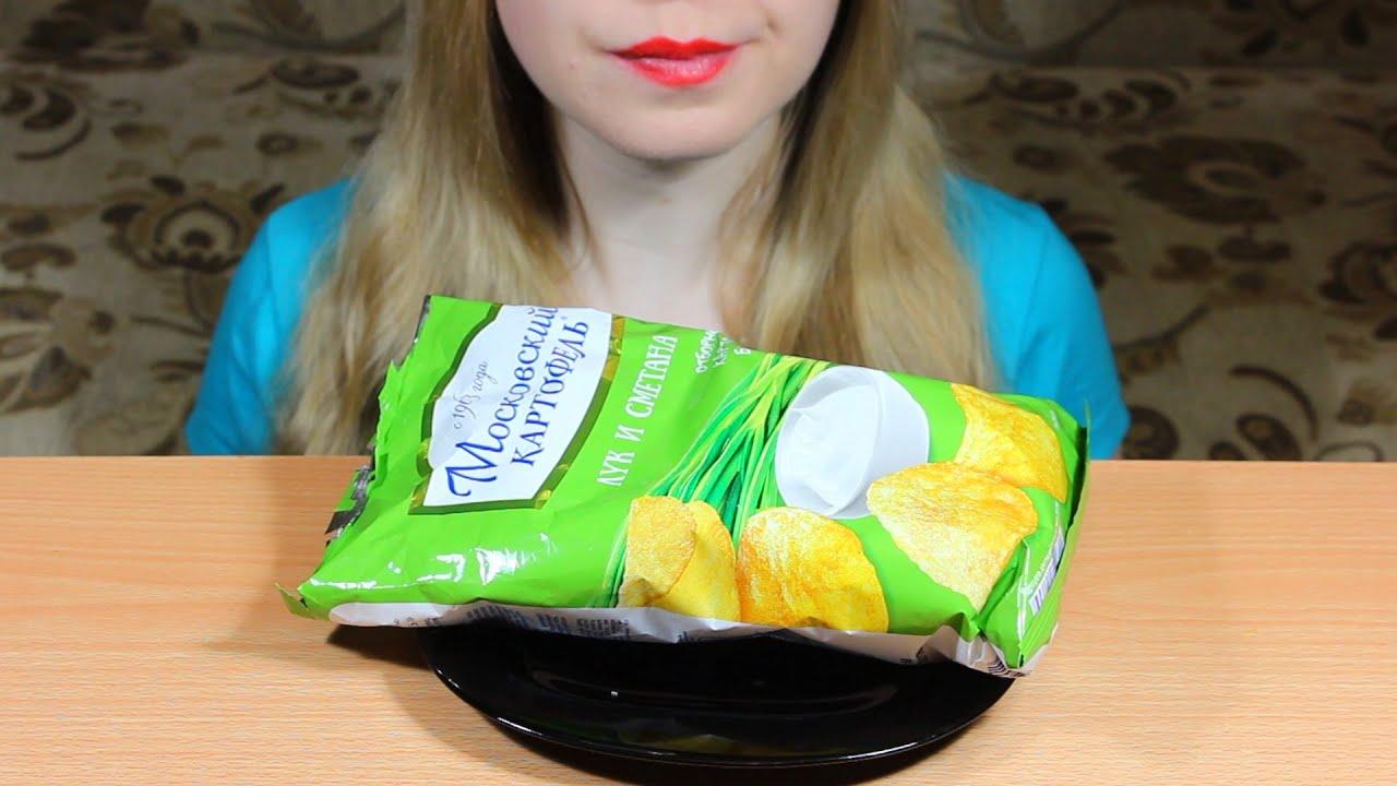 ASMR Eating Moscow Potato Chips (Crunchy Eating Sounds) NO TALKING. Tasty ASMR Eating
