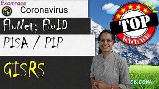 Coronavirus: n-CoV, SARS, MERS, Spanish Flu, H1N1; GISRS; FluNet, FluID, PISA, PIP