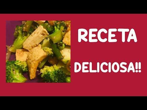 Receta de TOFU Deliciosa, con VERDURAS... en 5 MINUTOS!!! FACILÍSIMO!!