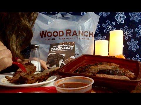 Wood Ranch BBQ TriTip Review, Info, ASMR Rambling about their Menu!  Soft Spoken, Nice Eating Sounds