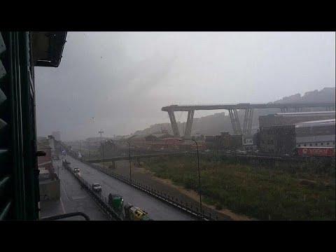 عشرات القتلى في انهيار جسر للسيارات في جنوة الإيطالية  - نشر قبل 1 ساعة