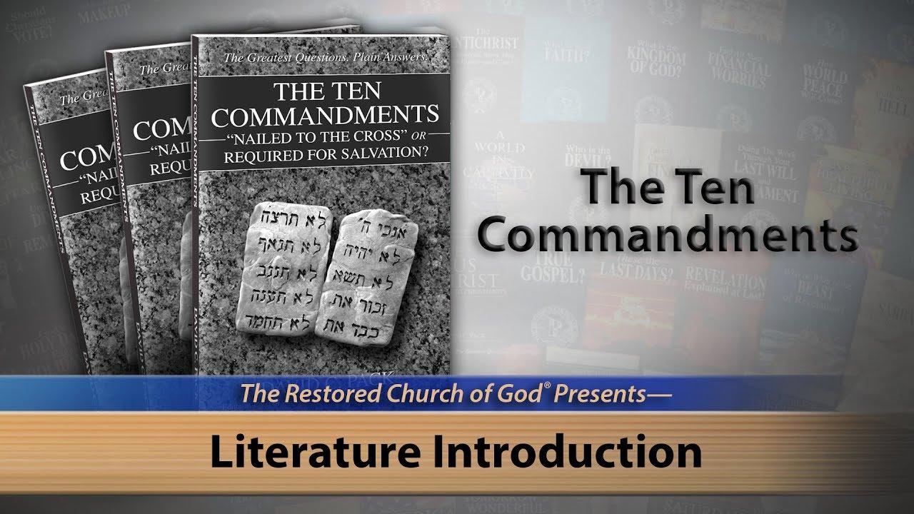 Literature Introduction: The Ten Commandments