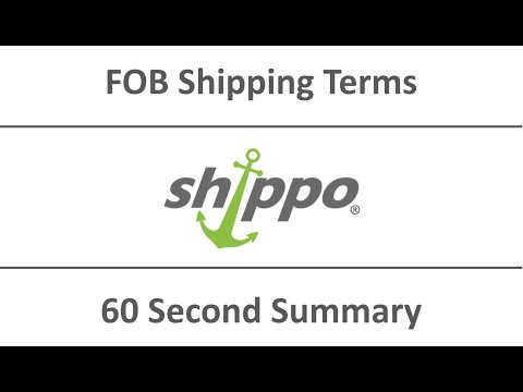 Shippo's 60 Second Summary | FOB Shipping Terms