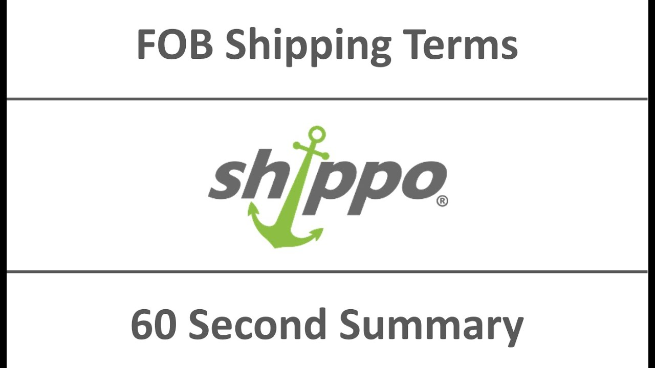 Free On Board (FOB) Shipping Terms - Shippo