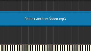 Roblox anthem video buts its MIDI
