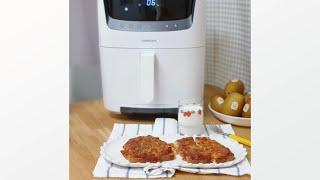 락앤락 스팀에어프라이어 찐만두 피자식빵 만들기