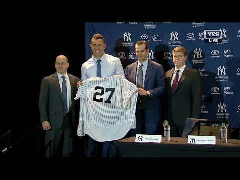 Giancarlo Stanton officially introduced by the Yankees