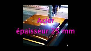 découpe plasma de différents matériaux sur machine CNC SUPRAZY.