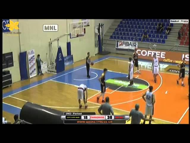 Εργοτέλης - Πανιώνιος ΓΣΣ 35-72. To video του αγώνα της 2ης αγωνιστικής του Πανελληνίου Πρωταθλήματος Παίδων  [basketpress.gr].