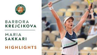 Barbora Krejcikova vs Maria Sakkari - Semifinals Highlights I Roland-Garros 2021