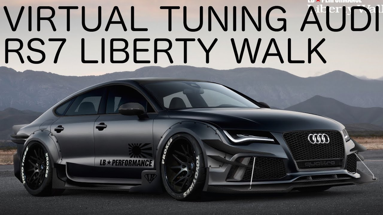 audi rs7 liberty walk virtual tuning on gimp photoshop. Black Bedroom Furniture Sets. Home Design Ideas
