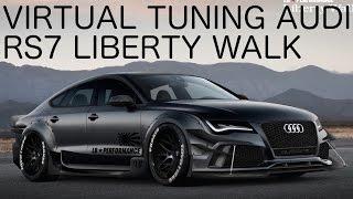 AUDI RS7 LIBERTY WALK - VIRTUAL TUNING ON GIMP (photoshop) - 1080p60fps