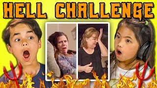 KIDS REACT TO THE HELL CHALLENGE thumbnail