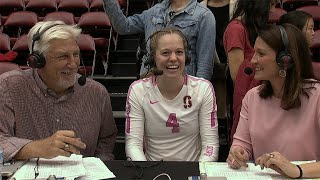 Meghan McClure on Stanford's mindset heading into the fifth set against Utah: 'We want to be the...
