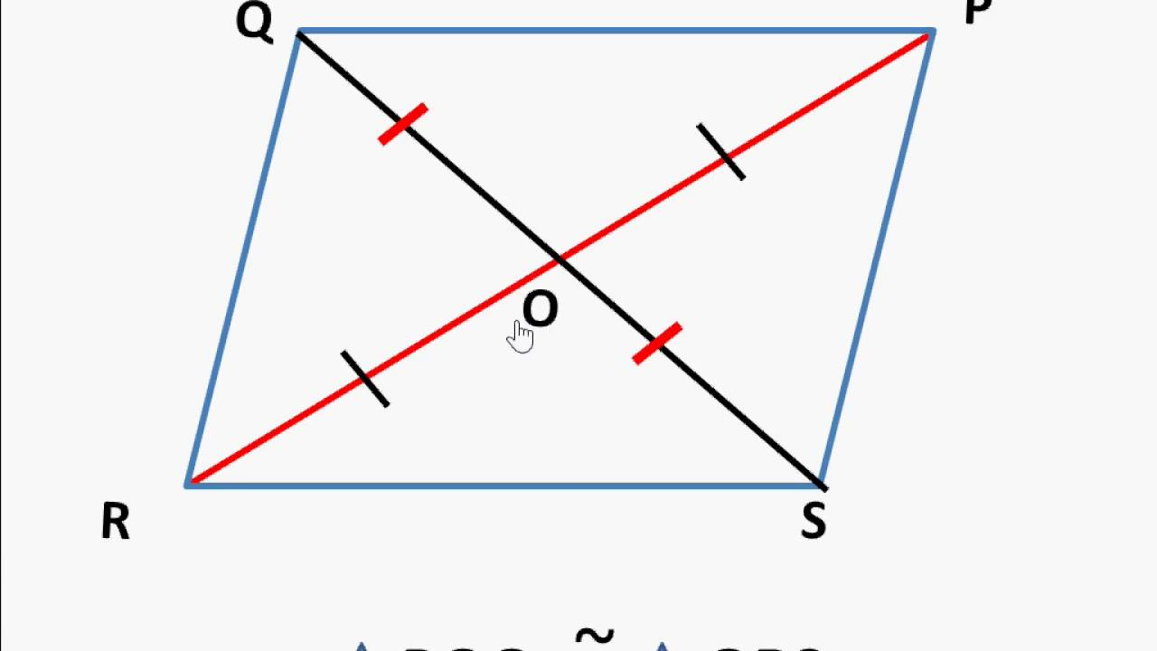 maths diagonals of a parallelogram english youtube