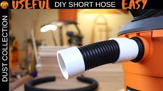Short hose for shop vac dust collection systems
