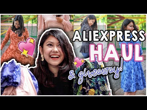ALIEXPRESS HAUL INDIA + GIVEAWAY | Online Shopping, Aliexpress Honest Review India| SAFE OR NOT?