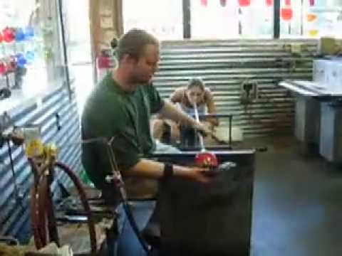 Blown Glass Apple Demo with Sean Welch