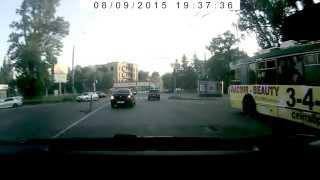 Обрыв контактной сети троллейбуса. Харьков