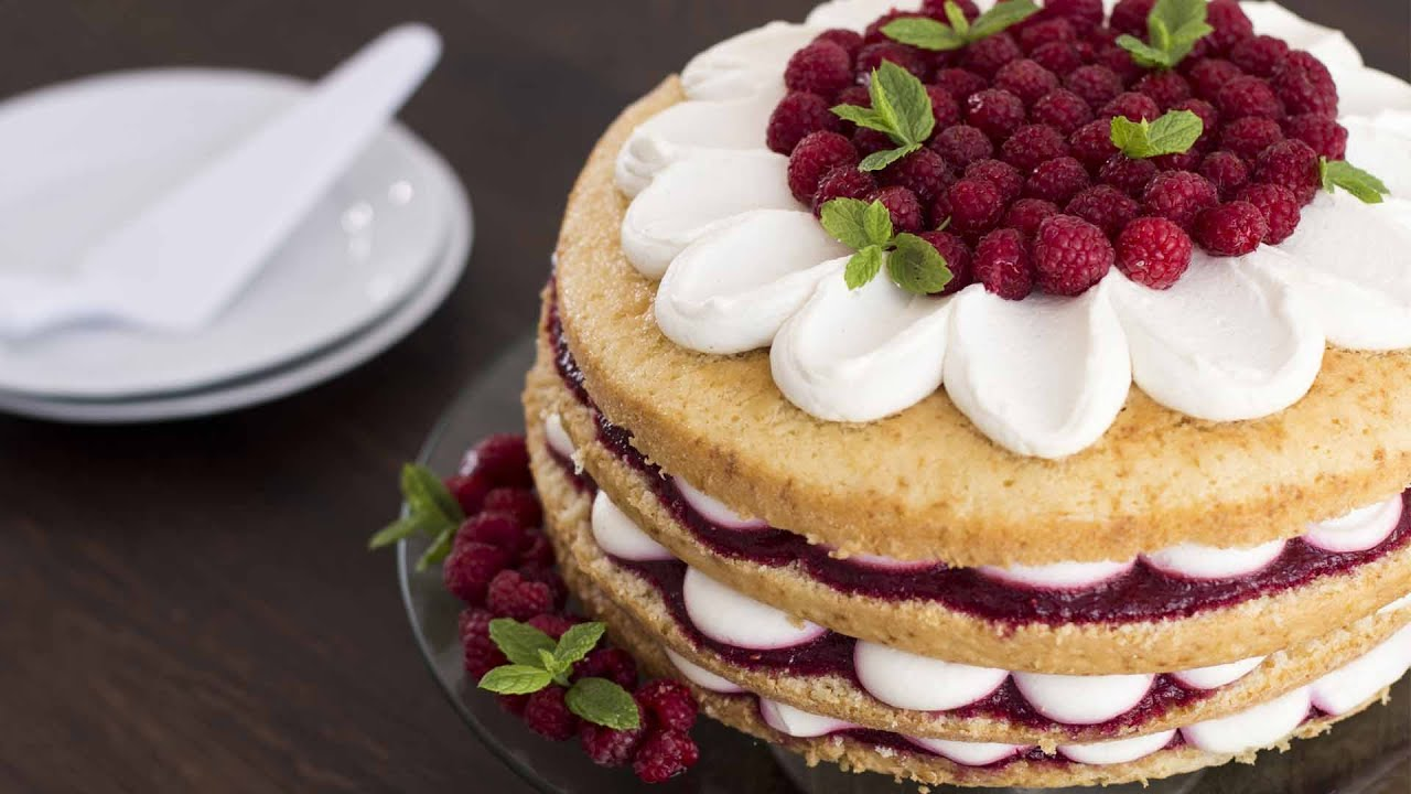 Raspberry Vanilla Cake Recipe