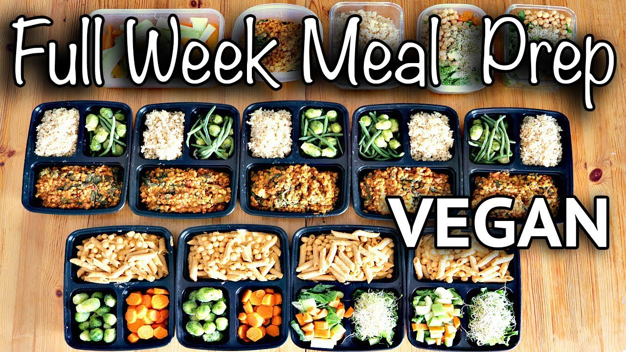 Bedwelming WEEKLY VEGAN MEAL PREP FOR BACK TO SCHOOL (CHEAP + EASY) - YouTube &WO13