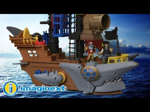 Imaginext Shark Bite Pirate Ship From Fisher-Price