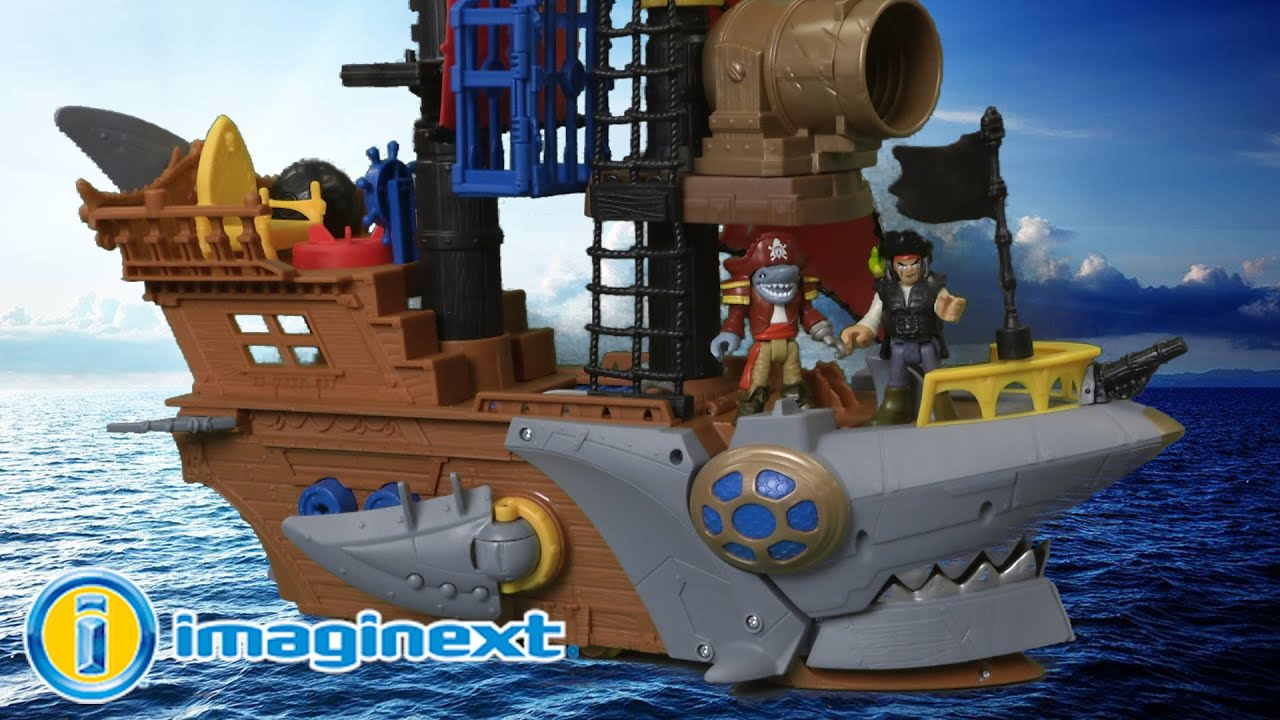 Shark Ship Toy : Imaginext shark bite pirate ship from fisher price youtube
