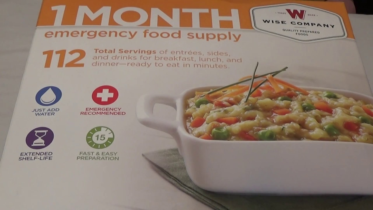 Wise 30 Day Emergency Food Storage Kit Buyer Beware! & Wise 30 Day Emergency Food Storage Kit: Buyer Beware! - YouTube