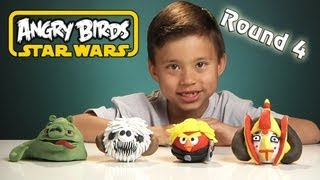 NEW Angry Birds STAR WARS Clay Models (Round 4) - Jabba the Hutt Pig, Wampa Pig, Queen Amidala Bird