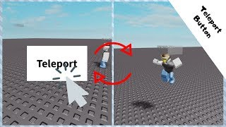 How to make a teleport button gui in roblox studios