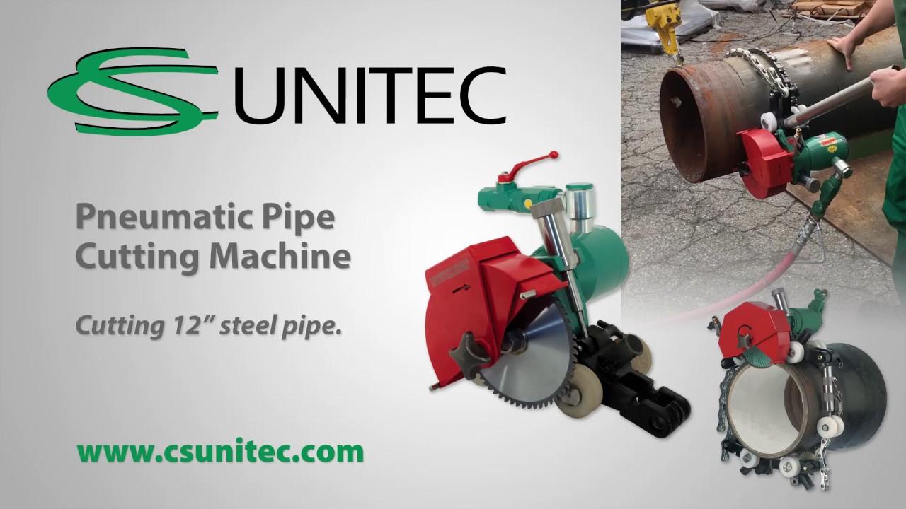 Pneumatic pipe cutting machine quot od steel