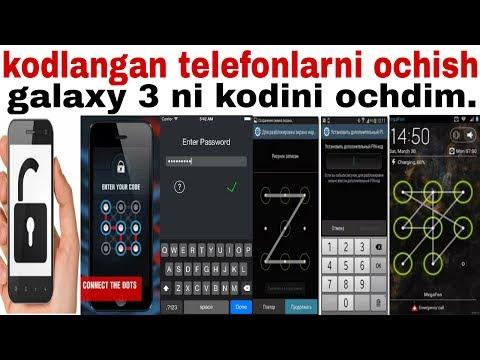 Kodlangan Telefonlarni Kodini Ochish Yuli.2017