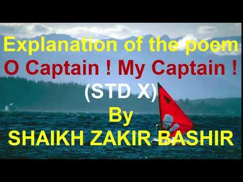 Explanation of the poem O Captain! My Captain! STD X