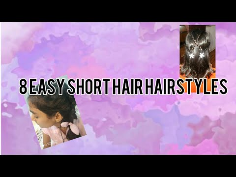 8-easy-short-hair-hairstyles-w/-surbhi,riddhi-#stayhome-stay-safe