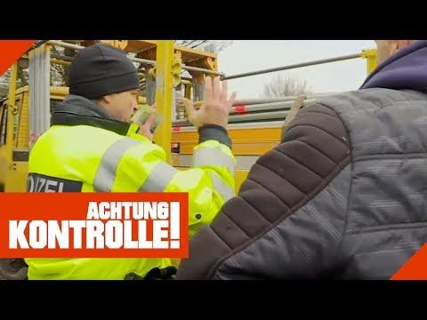 Polizei verbietet Weiterfahrt - Abenteuerliche Ladungssicherung! | Achtung Kontrolle | kabel eins