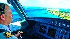 Windy landing at Bermuda (Air Canada A319)
