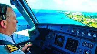 Windy landing at Bermuda (Air Canada A319)
